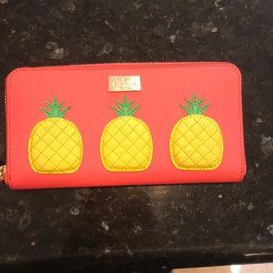 Late Spade pineapple wallet